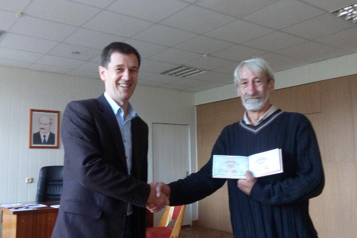 Вручение диплома доцента